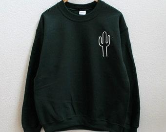 Cactus dark green sweatshirt