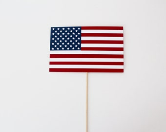 American Flag Photo Booth Prop - USA Photobooth Props - 4th of July Independence Day Presidents Memorial