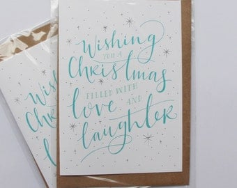 Love and Laughter Christmas Card