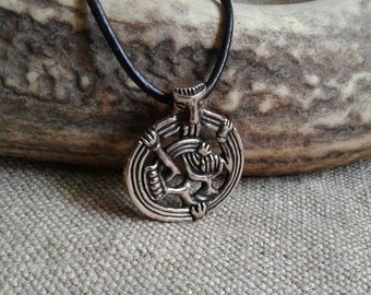 Viking Pendant, Borre Style, in Lost Wax Cast Bronze