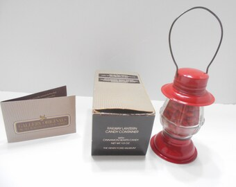 Vintage 1984 Avon Railway Lantern Candy Container (11) MIB-Henry Ford Museum