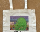 Dream Dragon eco reuse tote bag (small only)