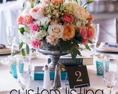 CUSTOM LISTING - 12 Slate Table Numbers for Tatum