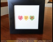 Mean Candy / Conversation Hearts Cross Stitch Pattern ( Printable PDF ) - Immediate Download from Etsy - Nasty Yum