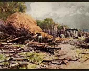 British Working Man - Lumberjack - English Countryside - England Workingman - English Country Art Prints