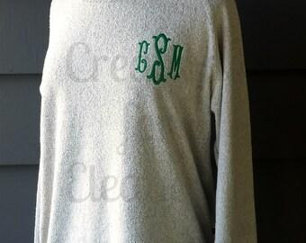Women's Monogrammed Tunic Sweatshirt, Monogrammed Tunic, Tunic Sweatshirt, Tunic, Longer Women's Sweatshirt, Monogrammed Sweatshirt,