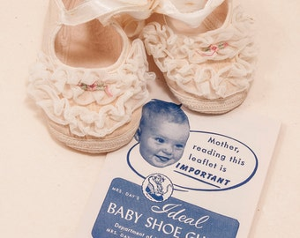 Ideal baby shoes 1950s or 60s, w/original papers, and part of box