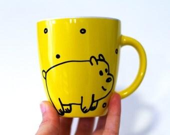 We bare bears Kids birthday Gift for Mom Cute bear Animal illustration Mama bear mug Coffee mug Papa bear gifts Funny mug