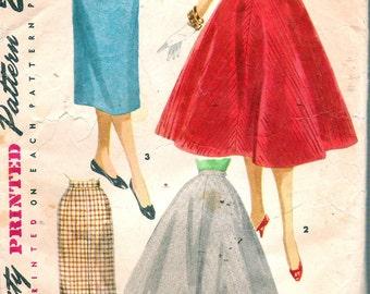 "Vintage Simplicity 1281 Junior Skirts & Suspenders Sewing Pattern Size Waist 23 1/2"""