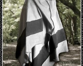 Polar Fleece Hooded Wrap, cape, pixie hood, winter warm, poncho