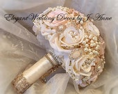 Pink Rose Gold Brooch Bouquet,BALANCE for Completed Order for Maria Only