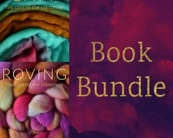 BATT and ROVING Spinning Books Bundle - Roving (Combed Top) + Batt (Spinning Batt) Tutorial - Handspinning Pattern