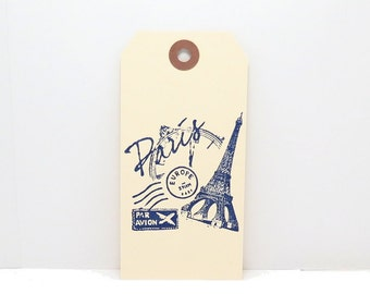 Tags, Gift Tags, Eiffel Tower Tags, Paris Tags, French Tags Tags,  Favor Tags, Manila Tags, Wish Tree Tags, Wishing Tree Tags, Party Tags