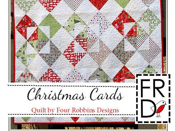 Christmas Cards Quilt Pattern PDF by Four Robbins Designs - Immediate Download