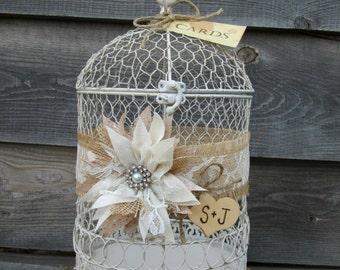 Bird Cage Card Holder - Wedding Birdcage - Wedding Card Box - Decorative Bird Cage -Birthday Card Holder - Anniversary Card Box - Gift Table