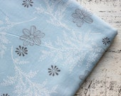 Vintage flannel cotton fabrics 4 yards in 1 listing white blue floral