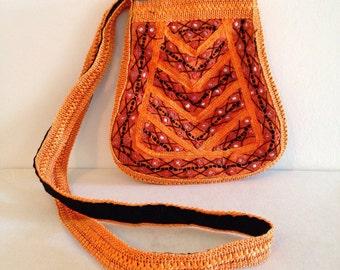 Vintage Indian Mirror Work Embroidered Hippie Boho Bag Gypset Purse