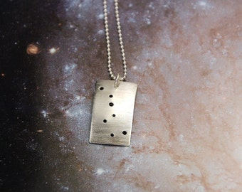 Big Dipper constellation sterling silver necklace