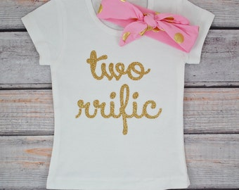 Second birthday outfit girl, 2nd birthday girl outfit, Baby girl second birthday outfit Two rrific