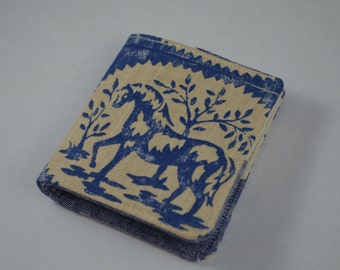 Animal Block Print Simple Bifold Wallet