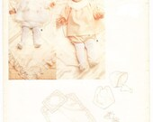 Baby Vogue, Size Small, Little Vogue, Bonnet, Bib, Layette, 1250, Baby Clothing Sewing Pattern