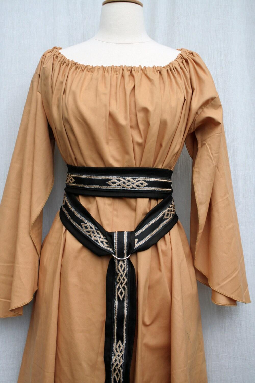 Custom Butterfly Sleeve Underdress In Cotton Kirtle Under