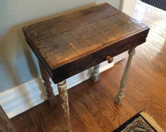 Antique Drawer and Spindle leg table