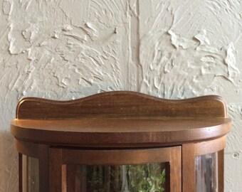 Wood Half Moon Display Cabinet