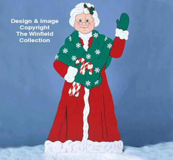 Christmas Decorations Life Size Santa: Christmas Mrs. Claus Life Size Wood Outdoor By