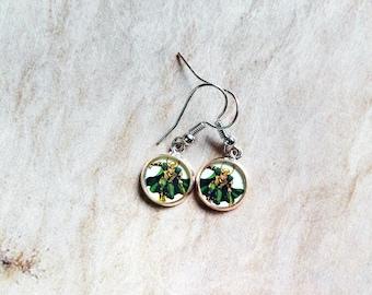 Loki earrings- dangle, nickle free