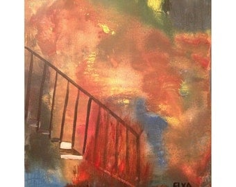 Fire! Original fine art, Acrylic Painting on Canvas