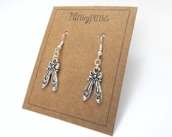 Ballerina Earrings, Ballet Shoes Earrings, Ballet Jewellery, Dancing Earrings, Dancer Jewellery, Dance Jewelry