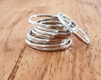 Kaiko ring - silver rings, sterling silver stack ring, stacking ring, stacking gold ring, knuckle ring, ring, hawaii