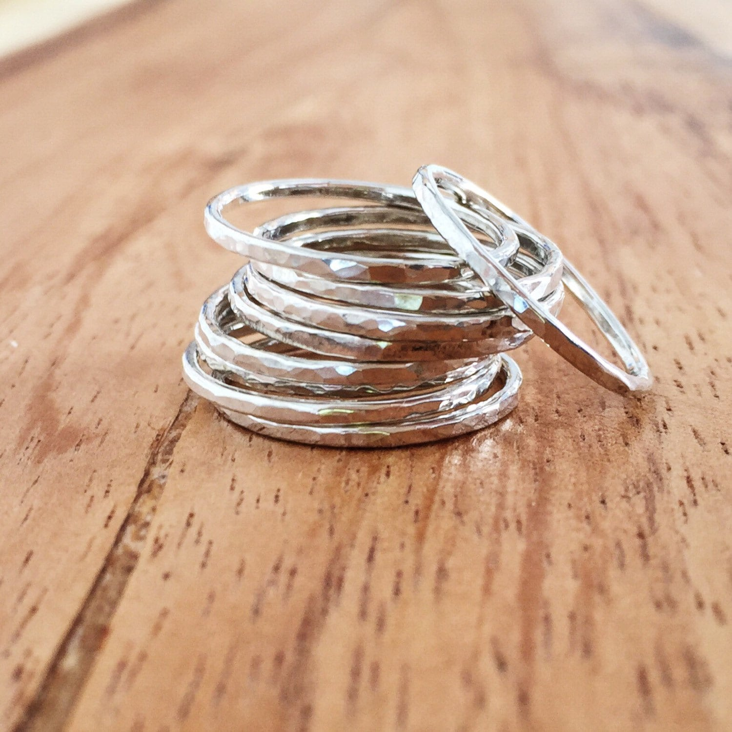 kaiko ring silver rings sterling silver stack ring