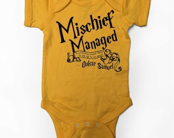 Mischief Managed Potter Onesie with Custom Name