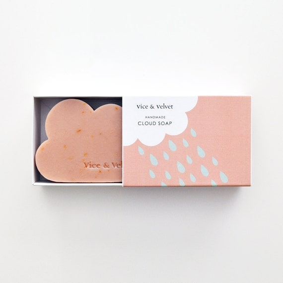 Siren Cloud Soap (VELVET) Rose Geranium, Ylang Ylang, Litsea, Orange, Patchouli - Macadamia, Rice Milk and Pink Clay Soap
