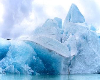 "Glacier Photography, Nature Art, Glacier, Large Art Prints, Blue Wall Decor, Nature Prints, Ice, Cool, ""Taku Glacier"""
