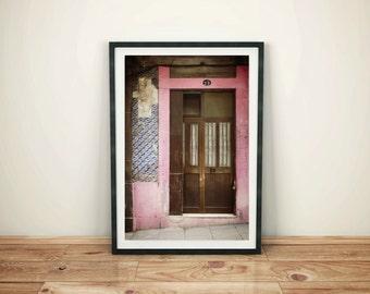 Pink Doorway in Portugal, Digital Download