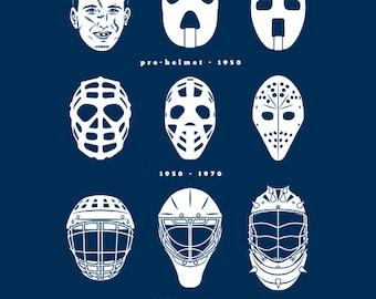 GOALIE MASK EVOLUTION Hockey T-shirt Ice Hockey Goal Tender Tee