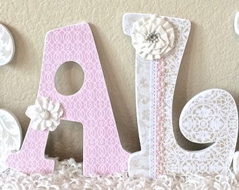 Nursery letters, Nursery wall hanging letters, nursery decor, nursery wall letters, personalized baby name art, The Rugged Pearl