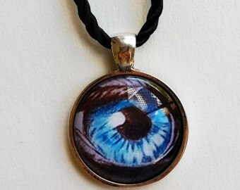 """Eye Necklace + Free Shipping Worldwide, """"Eyes are the window to your Soul"""", unique jewelry, eye pendant,spiritual jewelry"""