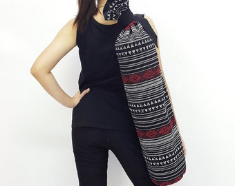 Handmade Yoga Mat Bag Yoga Bag Sports Bags Tote Yoga Sling bag Pilates Bag Pilates Mat Bag Woven Yoga Bag Women bag Woven Cotton bag (WF74)