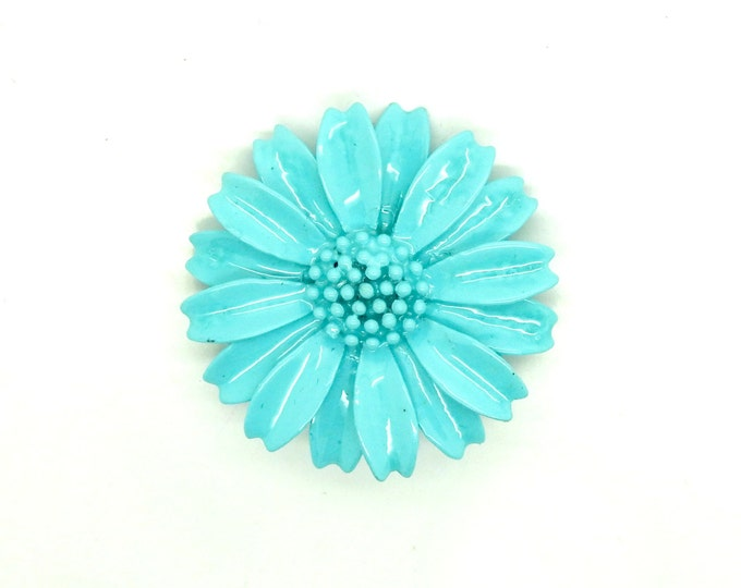 Vintage blue brooch flower
