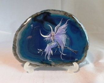 Fairy Painting on Agate