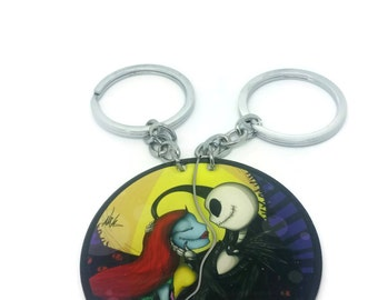 Nightmare Before Christmas Jack & Sally Couples/Friends Necklaces