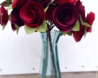 Paper flowers. Valentines  flowers. Centerpeice long stem roses.  Giant paper flowers. Wedding bouquet. Bridal bouquet. anniversary gift.