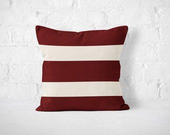 FALL PREVIEW - Game Day Stripes Pillow, Dorm Decor, Football, Texas A & M, Fall Pillow, Pillow, Dorm Decor