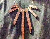 Necklace in Spotted Jarrah Statement necklace boho necklace unique jewellery