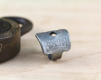Mid-Century Master Lock Key made into a RING! - Size 6 - Antique Padlock - Hardcrafted - Powder Coated - Repurposed - Upcycled