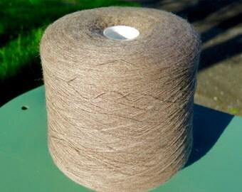SALE Shetland Supreme 1 ply Laceweight Wool Yarn in Fawn 1 kilo cone by Jamieson & Smith